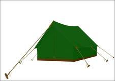 Verde della tenda Fotografia Stock
