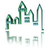 Verde della torretta della città della città Fotografia Stock Libera da Diritti