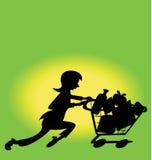 Verde di acquisto della donna Fotografie Stock Libere da Diritti