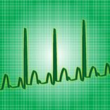 Verde di battito cardiaco Fotografia Stock