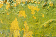Verde di calce e parete strutturata gialla Immagine Stock