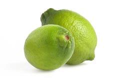 Verde di calce isolato fotografie stock