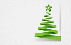 Verde di carta dell'albero Fotografia Stock