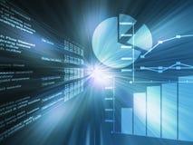 Verde di dati del foglio elettronico Immagine Stock
