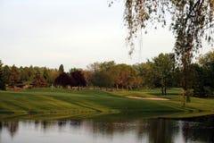 Verde di golf Immagine Stock