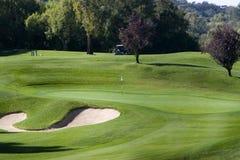 Verde di golf Fotografia Stock Libera da Diritti