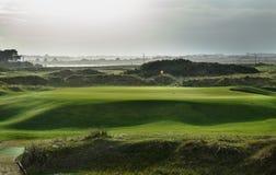 Verde di golf di collegamenti alla luce di trascinamento Fotografia Stock