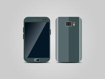 Verde di Smartphone su un fondo grigio Immagine Stock Libera da Diritti