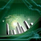 Verde di tecnologia Fotografia Stock Libera da Diritti