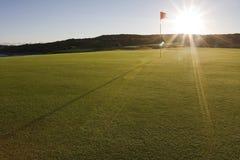 Verde di terreno da golf nella sosta nazionale della baia di botanica Fotografia Stock Libera da Diritti