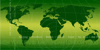 Verde di Worldnews Immagini Stock Libere da Diritti