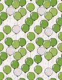 Verde dibujado mano linda y Gray Balloons Vector Pattern ilustración del vector