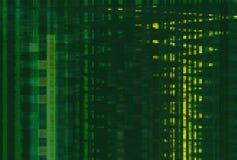 Verde digital do teste padrão da tela do pulso aleatório, pulsos aleatórios digitais abstratos ilustração royalty free