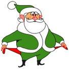 Verde disoccupato di Al della Santa-?Babbo Natale Fotografie Stock