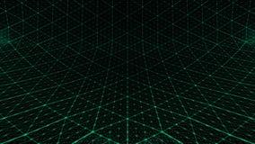 Verde distorcido do fundo da grade ilustração royalty free