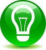 Verde do ícone do bulbo da ideia ilustração royalty free