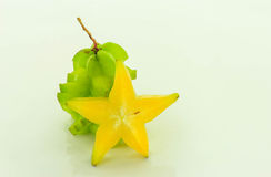 Verde do Carambola Imagem de Stock Royalty Free
