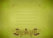 Verde do cartão Fotos de Stock