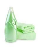 Verde do emoliente e da toalha da tela Imagens de Stock