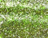 Verde do fundo com brilho de prata Fotografia de Stock