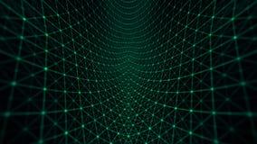 Verde do fundo da grade da distorção ilustração stock