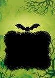 Verde do fundo de Dia das Bruxas ilustração stock
