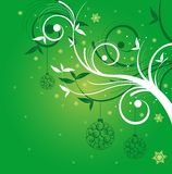 Verde do fundo do Natal fotografia de stock royalty free