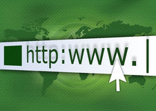Verde do HTTP Fotografia de Stock Royalty Free