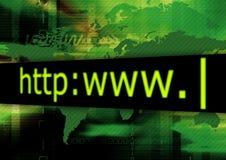 Verde do HTTP Foto de Stock