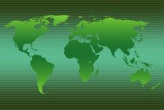 Verde do mapa de mundo Fotografia de Stock