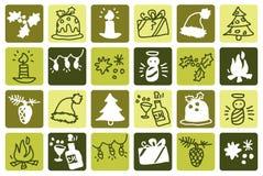 Verde do Natal ilustração royalty free