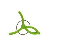 Verde do pregador de roupa isolado Imagens de Stock