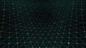 Verde do teste padrão de grade da distorção ilustração royalty free