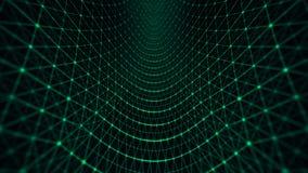 Verde do teste padrão de grade da distorção ilustração stock