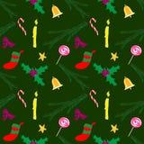 Verde do teste padrão do Natal Ilustração Stock