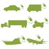 Verde do veículo de transporte Foto de Stock
