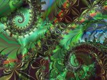 Verde doble Ilustración del Vector