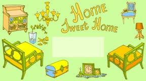 Verde dolce domestico del prov della decorazione della mobilia Fotografie Stock