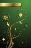 Verde dorato Fotografie Stock Libere da Diritti