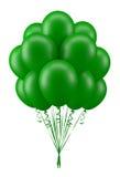 Verde dos balões Imagem de Stock Royalty Free