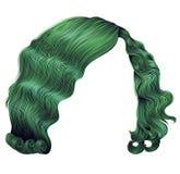 Verde dos cabelos curtos da mulher estilo retro 3d realístico da beleza da forma Fotografia de Stock