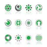 Verde dos logotipos da companhia Foto de Stock