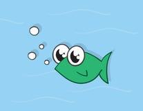 Verde dos peixes Fotografia de Stock Royalty Free