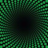 Verde Dots Black Center del modello di Spirale Fotografie Stock