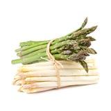 Verde e branco do aspargo Imagens de Stock Royalty Free