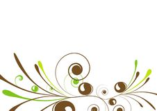 Verde e braon abstratos Imagens de Stock
