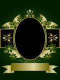 Verde e disegno floreale dell'oro Fotografia Stock Libera da Diritti