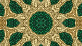 Verde e fondo simmetrico astratto dell'oro per la stampa sui clo Immagine Stock Libera da Diritti