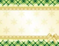 Verde e fundo do Natal do ouro Fotografia de Stock