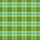 verde e giallo con il modello del plaid della stella Fotografie Stock Libere da Diritti